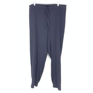 Eloquii 18 Pinstripe Pull On Pants Blue Tapered